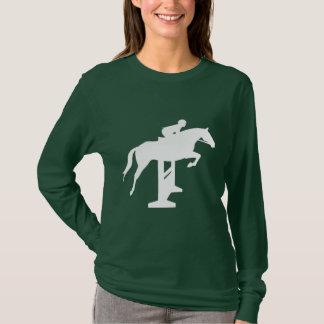 Hunter Jumper Horse & Rider (white) T-Shirt