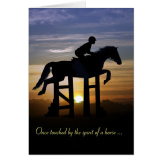 Hunter Jumper Horse Sympathy Memorial Card
