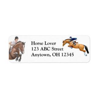 Hunter Jumper Show Horse Label Return Address Label