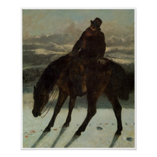 Hunter on Horseback, Recovering theTrail Poster