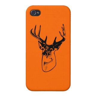 Hunter Orange Big Whitetail Buck Silhouette iPhone 4 Case