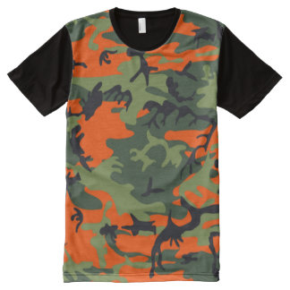 hunter orange camo All-Over-Print T-Shirt
