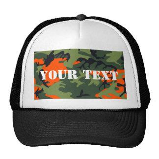 Hunter Orange Camo Trucker Hat