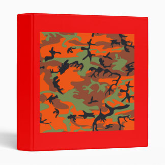 Hunter Orange with Green Camouflage Binder