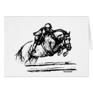 Hunter Over Fences Sketch Card