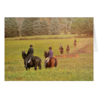 HUNTER PACE 5x7 GREETING CARD