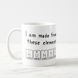 Hunter periodic table name mug