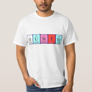 Hunter periodic table name shirt