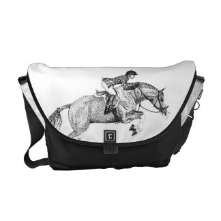 Hunter Pony Pointillism Courier Bags