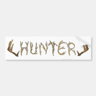 Hunter rack bumper sticker