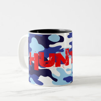 Hunter Red Camo Army colors Love to Hunt Two-Tone Coffee Mug