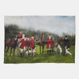 Hunter - The fox hunt - Tally-ho 1924 Kitchen Towel