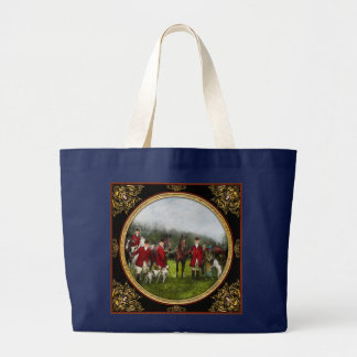 Hunter - The fox hunt - Tally-ho 1924 Large Tote Bag