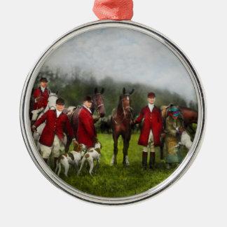 Hunter - The fox hunt - Tally-ho 1924 Metal Ornament