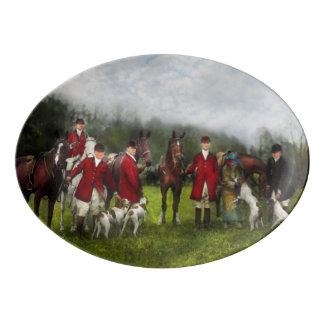 Hunter - The fox hunt - Tally-ho 1924 Porcelain Serving Platter