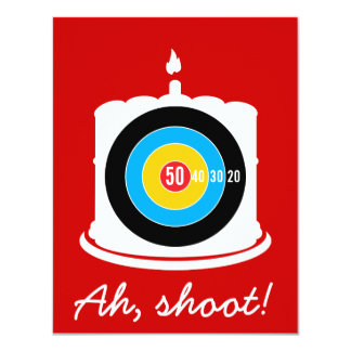 Hunter's 50th Birthday Target Invitation