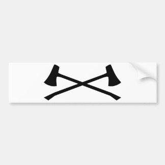Hunter's Axe Bumper Sticker