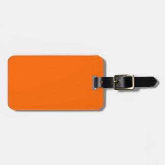 Hunters Blaze Orange Easy ID Luggage Tag
