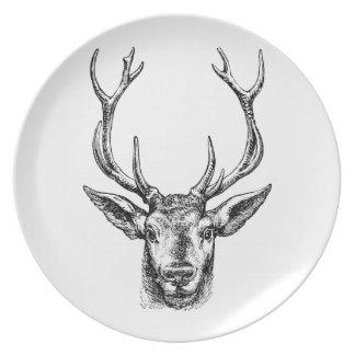 Hunters Buck Dinner Plate