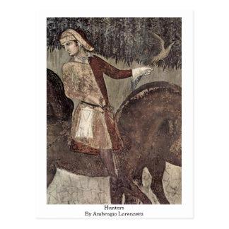 Hunters By Ambrogio Lorenzetti Postcard