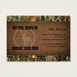 Hunter's Camo Business Cards