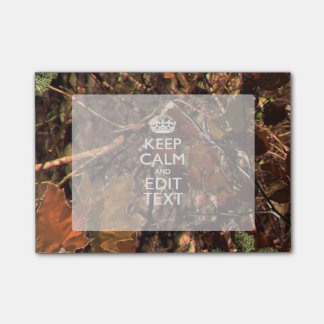 Hunters Fall Camouflage Keep Calm Your Text Post-it Notes