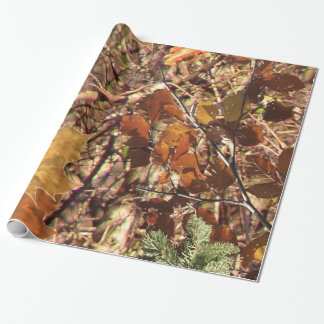 Hunter's Fall Nature Camo Camouflage Painting Wrapping Paper