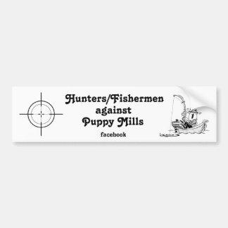 Hunters/Fishermen Against Puppy Mills facebook #3 Bumper Sticker