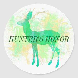 Hunter's Honor responsible hunter sticker! Classic Round Sticker