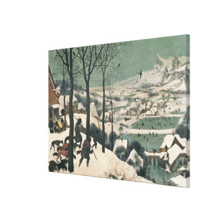 Hunters in the Snow - january, 1565 Canvas Print