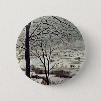 Hunters In The Snow (Month Of January) Detail 2 Inch Round Button