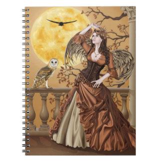 Hunter's Moon - Moonlight Masquerade Owl Fairy Notebook