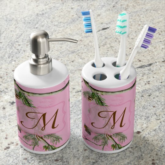 Hunters Pink Camo Lotion Bottle Toothbrush Holder