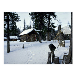 Hunter's shelter, Siberia Winter Postcard