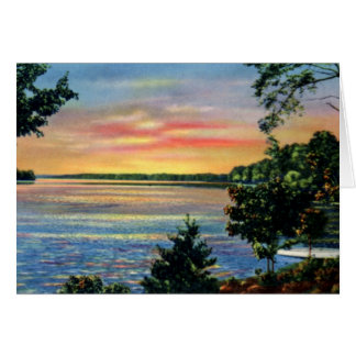 Huntersville North Carolina Sunset on Lake Norman Card