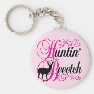 Huntin' Beeotch Keychain