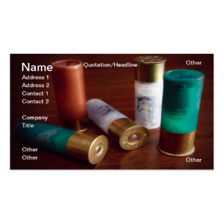 Hunting ammo business card