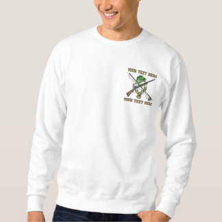 Hunting and Fishing - add your text - father's day Embroidered Sweatshirt