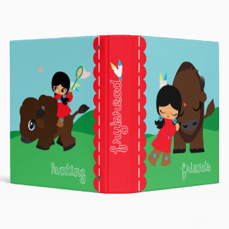 hunting and friends 3 ring binder