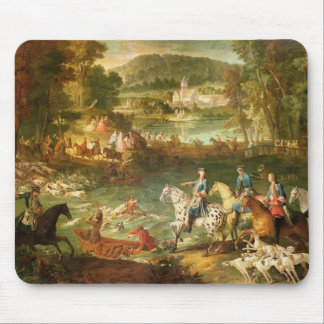 Hunting at the Saint-Jean Pond in the Forest Mouse Pad
