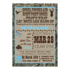 Hunting Camo Baby Boy Shower Invitations Blue