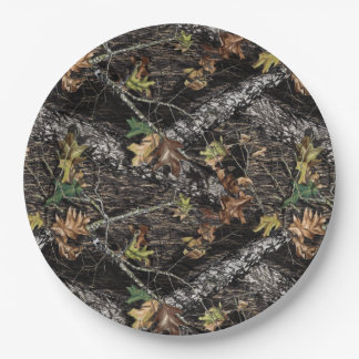 Hunting Camo Camouflage Party Plates for Showers 9 Inch Paper Plate