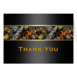 Hunting Camo Formal Thank You Cards