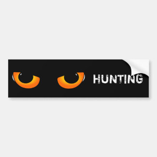 Hunting cat bumper sticker
