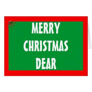 Hunting Christmas Greeting Card