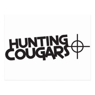hunting cougars with bullseye and target postcard