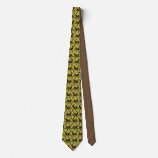 Hunting deer pattern tie