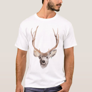 Hunting Deer T-Shirt with Illustration
