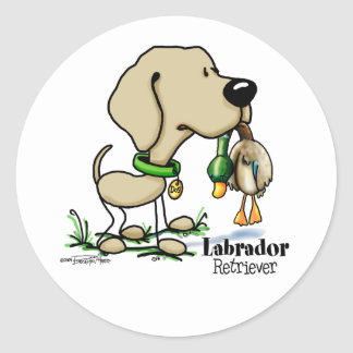 Hunting Dog - Yellow Labrador Retriever stickers