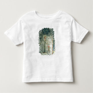 Hunting dogs and men climbing a tree toddler t-shirt